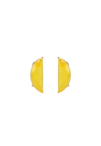 kate spade new york yellow Scallop Stud Earrings FEBB6ACC7F07FBGS_1