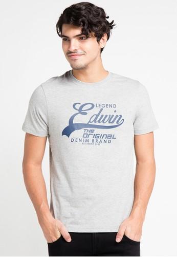 EDWIN grey Original T-Shirt Ets-6-106 ED179AA0URILID_1