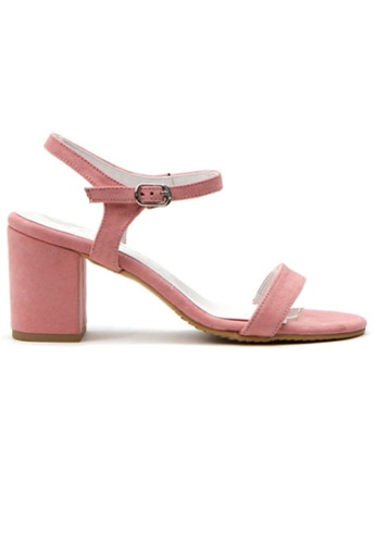 Crystal Korea Fashion pink Korean Fashion Summer Candy Color Thick Sandals 24CE1SH8FB610EGS_1
