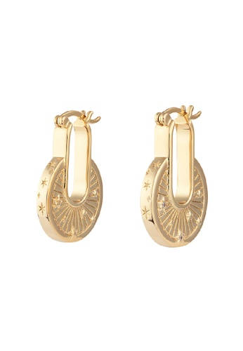 Wanderlust + Co gold Ray of Light Gold Earrings 62A5BAC0F9D909GS_1