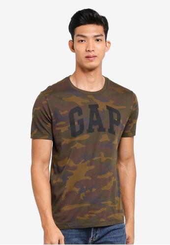 GAP green Logo Camo Print T-Shirt 84407AA1BBA089GS_1