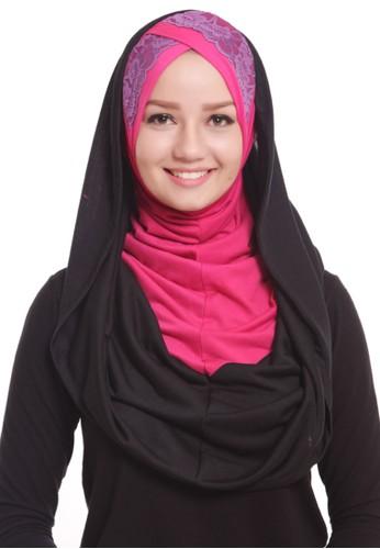 Mybamus Cross Tile Two Colour Hoodie Black-Pink