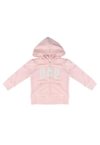 GAP pink Logo Full Zip Hoodie 00484KA32383B1GS_1