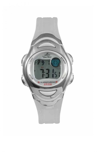 UniSilver TIME white Men's KW114-3666 Transparent Rubber Watch A86E3AC7F67C7EGS_1