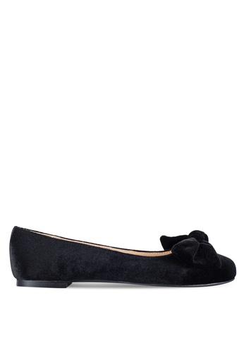 Velvet black Velvet Ballerinas with Bow 65EA5ZZ46DCB70GS_1