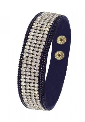 Her Jewellery blue Sparkling Bracelet (Dark Blue) HE581AC0RAEQMY_1