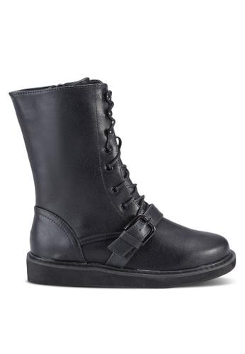 Platfozalora時尚購物網評價rm 騎士風中筒靴, 女鞋, 鞋