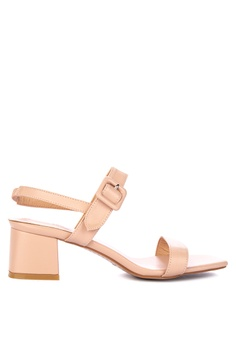 ea3639ae540b the   edit pink Beatrice Strappy Block Heel With Buckle 8E2E7SHFFF7A03GS 1