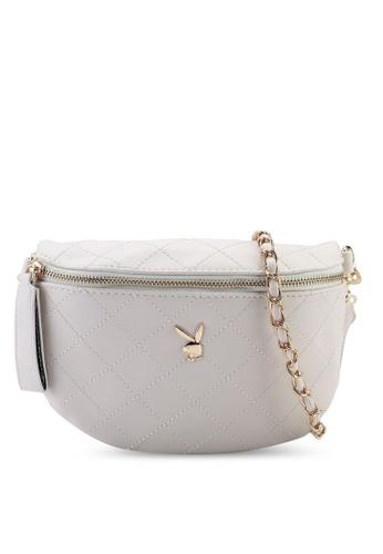 PLAYBOY BUNNY beige Sling Bag D0A18AC60736FEGS_1
