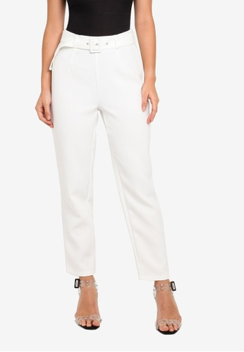 3b7de9512f6a05 Shop MISSGUIDED Petite Belted Cigarette Trousers Online on ZALORA  Philippines