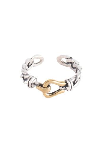 OrBeing white Premium S925 Sliver Geometric Ring ECCBAAC38636ECGS_1