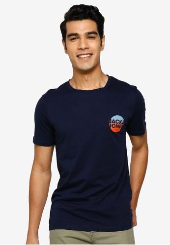 Jack & Jones navy Torpedo Short Sleeve T-Shirt 57BD1AA5A1C540GS_1