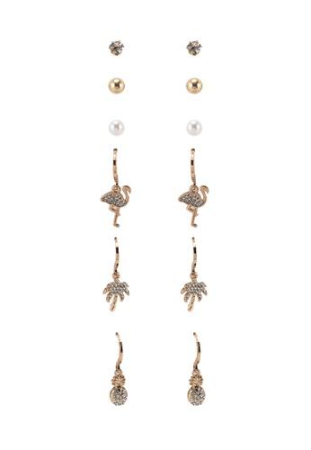 ALDO gold Kondalilla Pierced Earrings 4086DAC4232DA7GS_1
