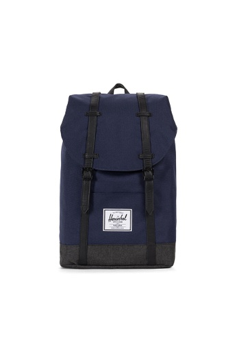 Herschel multi Herschel Retreat Backpack (Peacoat/Black X) - 19.5L 560B4AC1E68E8DGS_1