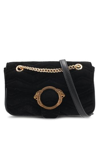 Nose black Velvet Crossbody Bag NO327AC0SJ26MY_1
