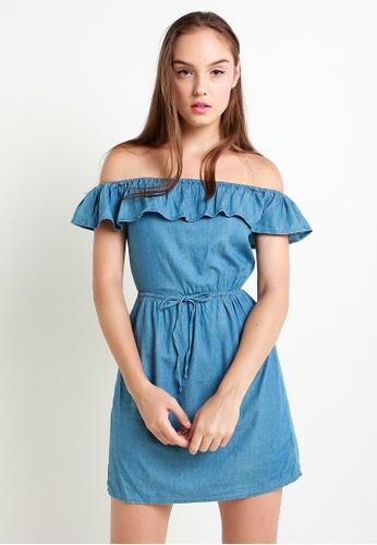 Leline Style blue Zaris Denim Dress LE802AA27VSESG_1