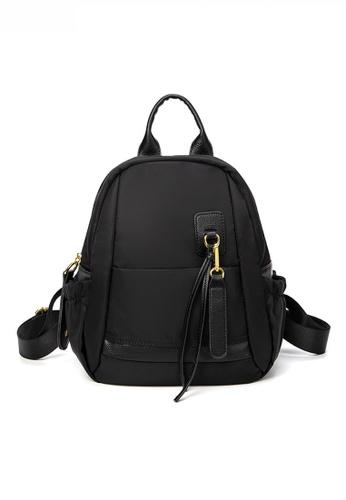 Twenty Eight Shoes black Stylish Nylon Oxford Patch Faux Leather Backpack JW CL-C5248-L 7DC23AC33A240FGS_1