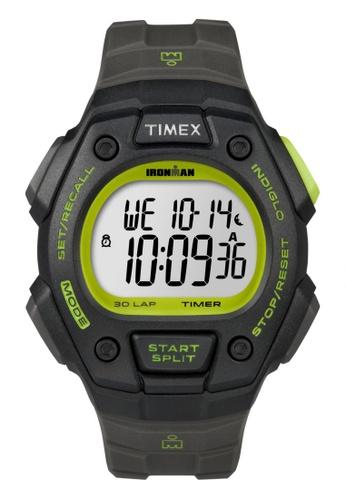 TIMEX grey Timex IRONMAN® Classic 30 Full-Size - Grey/Green TI857AC60VZNSG_1