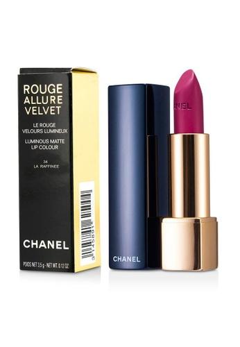 Chanel CHANEL - Rouge Allure Velvet - # 34 La Raffinee 3.5g/0.12oz 19F14BED6E6A33GS_1