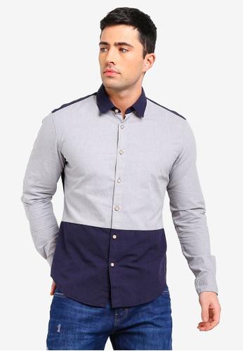 ESPRIT 海軍藍色 長袖襯衫 C1A1EAA54841A8GS_1