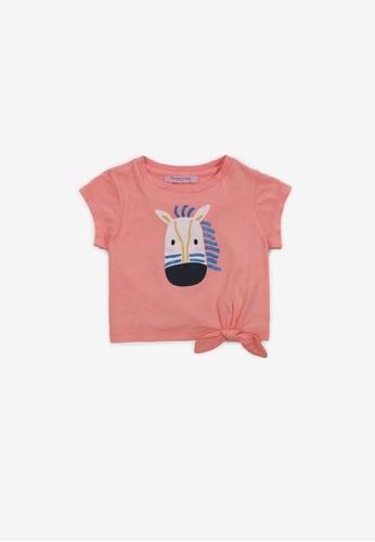 Gingersnaps orange Baby Girls Zebra Print T-Shirt EDCB5KA4F22D31GS_1