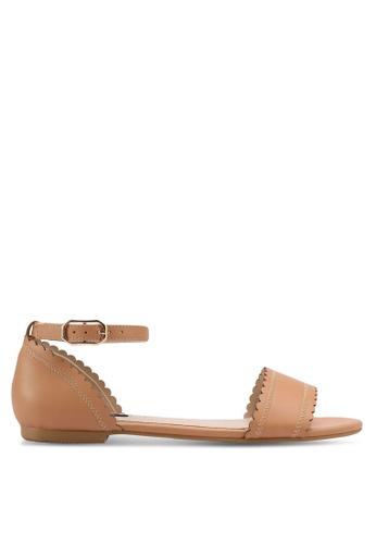 ZALORA beige Ankle Strap Sandals B20A8SH0FEC7D3GS_1