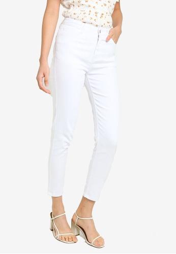 ZALORA BASICS white Skinny Denim Jeans F3349AA2E9F5E8GS_1