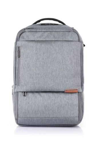 good volume large hot-selling cheap Samsonite Marcus Eco LP Backpack VZ - Heather Grey