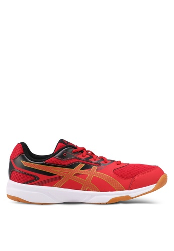 Asics red Upcourt 2 Shoes AS989SH0SVR1MY_1