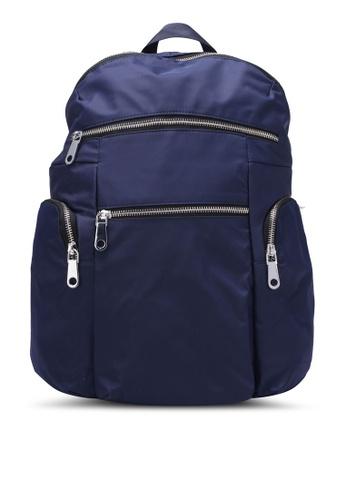 NUVEAU navy Lightweight Nylon Backpack NU245AC0S66VMY_1