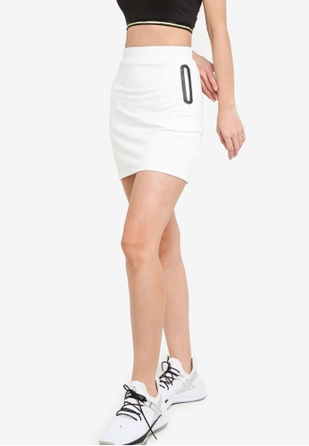 ZALORA ACTIVE white Side Zipper Skirt 826D1AAA855F09GS_1