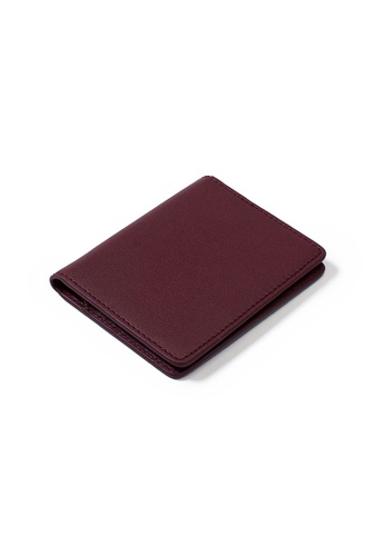 PLAIN SUPPLIES red Kyl II RFIDsafe Mini Bifold - Burgundy 9F5DEACF2EC4F3GS_1