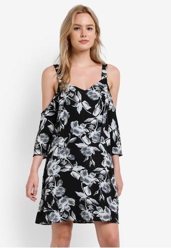 ZALORA black Buckle Detail Strap Dress 5F755AABFFFF8BGS_1