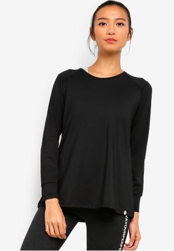AVIVA black Long Sleeve Top E7779AA17D56E7GS_1