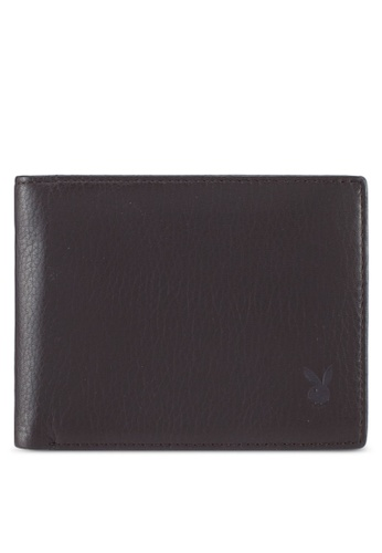 Playboy brown Playboy Genuine Leather Wallet 79DA6ACF9D1C99GS_1