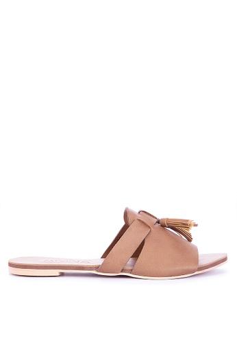 ANINA brown Roux Slide Sandals CC11DSHA2A1A13GS_1