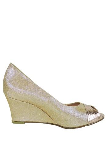 Jacque gold Mystic Gold Glitter Wedge JA262SH46LXXMY_1