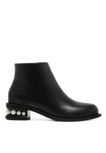 Twenty Eight Shoes black Pearl Heel Ankle Boots A16-1 TW446SH42LPPHK_1