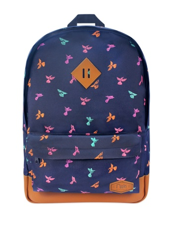 Ripples black Hummingbirds Backpack RI425AC0FM25SG_1