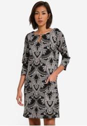 Wallis black Black Paisley Print Shift Dress WA800AA0SACSMY_1