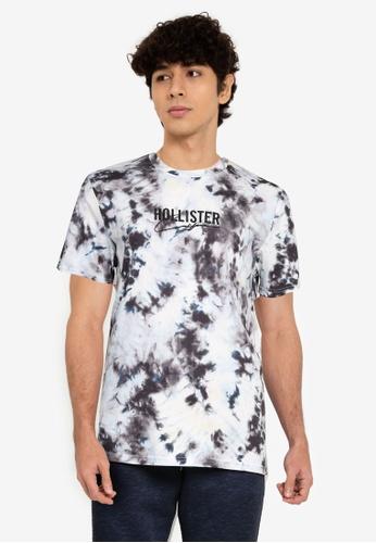 Hollister blue Crew Wash T-Shirt A5427AAF7D0E67GS_1