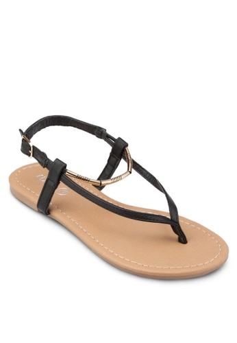 Cosesprit門市mo 金飾夾腳涼鞋, 女鞋, 鞋