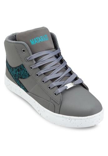 印花拼接高筒運動esprit服飾鞋, 鞋, 休閒鞋