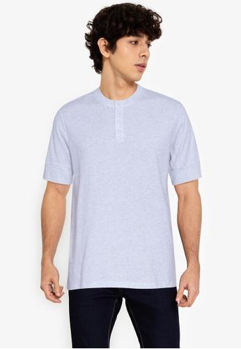 ZALORA BASICS grey Henley T-Shirt 1B4BBAAE82ADB9GS_1