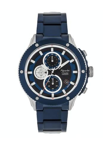 Alexandre Christie navy Alexandre Christie Jam Tangan Pria - Blue Silver - Stainless Steel - 6489 MCBTUBA 289A7AC1E46D55GS_1