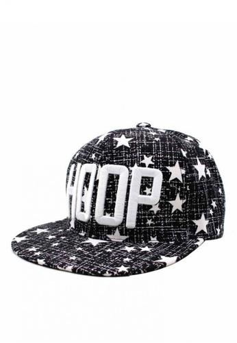 Cap City International black Hoop Unisex Hip-hop  Snapback Cap CA260AC0JG6KPH_1