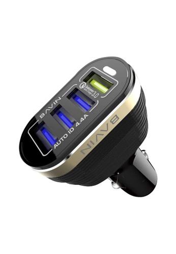 BAVIN black BAVIN 4.4A Car Charger w/ 1 Slot 3.0 Qualcomm Quick Charger A45FDACAB6D78BGS_1