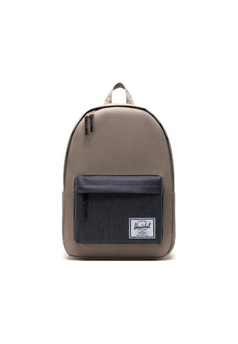 Herschel grey Herschel Classic X-Large Backpacks - Timberwolf/Black Denim 91A4FAC292491BGS_1