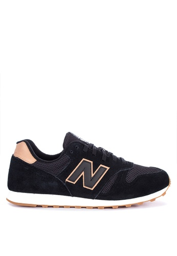 New Balance black 373 Classic Lifestyle Sneakers 280CASHB900840GS_1