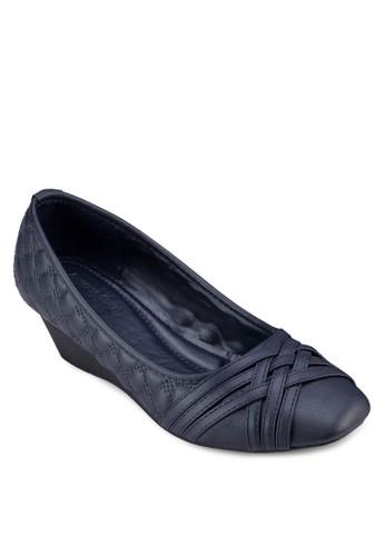方頭esprit招聘軟襯楔型跟鞋, 女鞋, 鞋